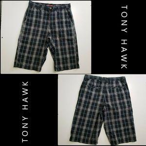 Tony Hawk Men Plaid & Check Short  Size 30